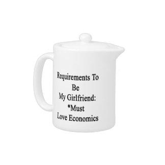 Los requisitos de ser mi novia deben amar Economi