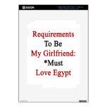 Los requisitos de ser mi novia deben amar Egipto Pegatina Skin Para iPad 3
