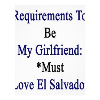 Los requisitos de ser mi novia deben amar el EL Plantilla De Membrete