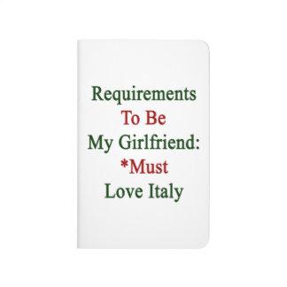 Los requisitos de ser mi novia deben amar Italia