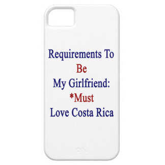 Los requisitos de ser mi novia deben amar la costa iPhone 5 carcasas