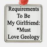 Los requisitos de ser mi novia deben amar la geolo