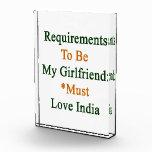 Los requisitos de ser mi novia deben amar la India
