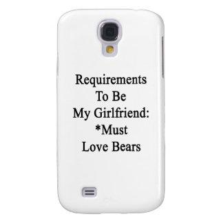 Los requisitos de ser mi novia deben amar osos