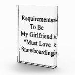 Los requisitos de ser mi novia deben amar Snowboa