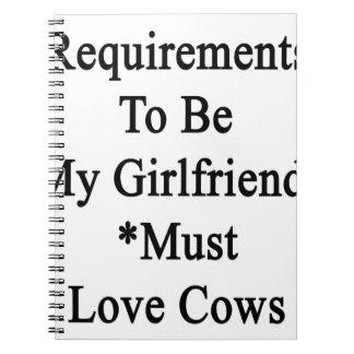 Los requisitos de ser mi novia deben amar vacas libretas