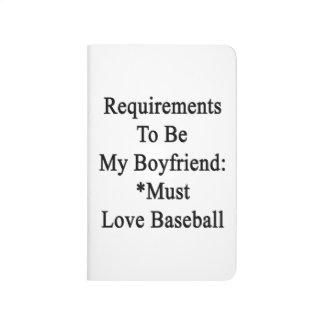 Los requisitos de ser mi novio deben amar béisbol
