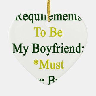 Los requisitos de ser mi novio deben amar el adorno de cerámica en forma de corazón