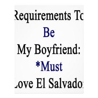 Los requisitos de ser mi novio deben amar el EL Plantilla De Membrete