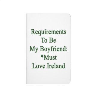 Los requisitos de ser mi novio deben amar Irlanda Cuadernos Grapados