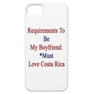 Los requisitos de ser mi novio deben amar la costa iPhone 5 cárcasa