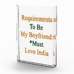 Los requisitos de ser mi novio deben amar la India