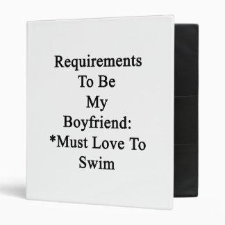 Los requisitos de ser mi novio deben amar nadar