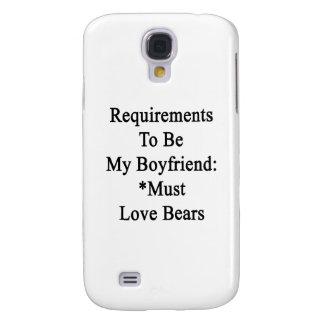 Los requisitos de ser mi novio deben amar osos