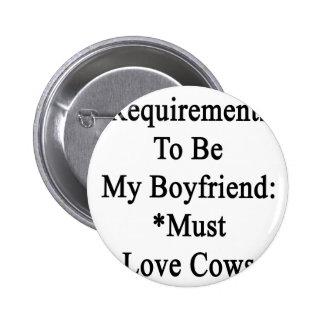 Los requisitos de ser mi novio deben amar vacas