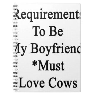 Los requisitos de ser mi novio deben amar vacas libro de apuntes