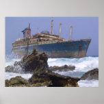 Los restos de las islas Canarias americanas de la  Posters