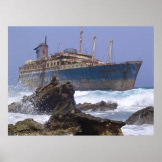 Los restos de las islas Canarias americanas de la  Póster