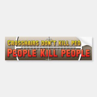 Los retículos no matan a gente pegatina para auto
