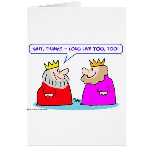 los reyes viven de largo usted también tarjeta