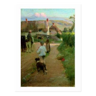 Los rezagados, 1888 (aceite en lona) tarjetas postales