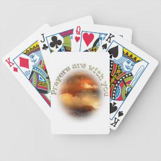 Los rezos están con usted baraja cartas de poker