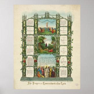 Los rezos y los mandamientos de nuestro señor póster