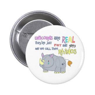 los rhinos son apenas botón feo de los unicornios pins