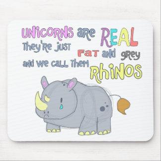 los rhinos son apenas mousepad feo de los unicorni tapete de ratones