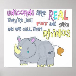 los rhinos son apenas poster feo de los unicornios
