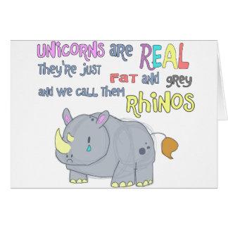 los rhinos son apenas tarjeta fea de los unicornio