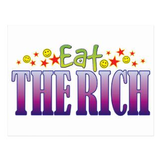 Los ricos comen postal