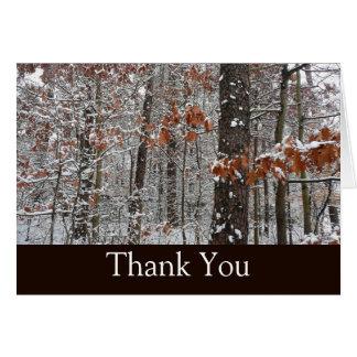 Los robles nevados le agradecen cardar tarjeta de felicitación