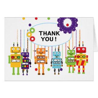 Los robots le agradecen las tarjetas de nota