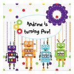 Los robots modificaron invitaciones del cumpleaños invitación personalizada