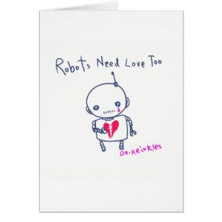¡Los robots necesitan amor también! Tarjetas