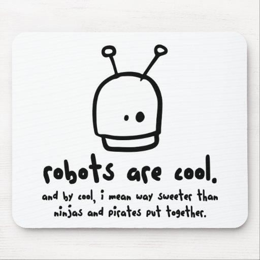 los robots son cool1 alfombrillas de ratones