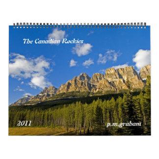 Los Rockies canadienses 2011 Calendarios