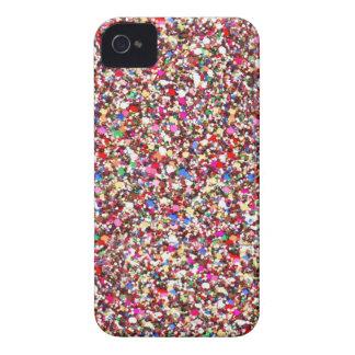Los rojos multi de las lentejuelas chispean el iPh iPhone 4 Case-Mate Cárcasas