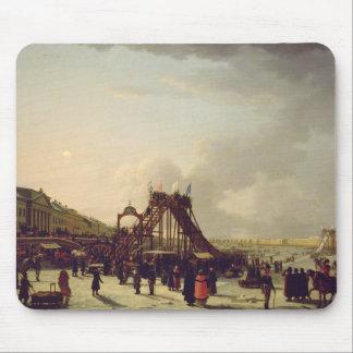 Los roller coaster en el Neva en el St. Mouse Pad