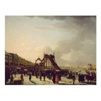 Los roller coaster en el Neva en el St. Tarjeta Postal