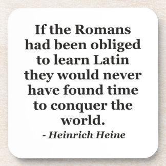 Los romanos aprenden la cita latina posavaso