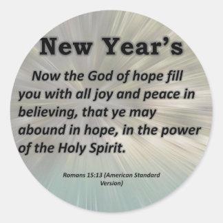 Los romanos del Año Nuevo 15-13 Pegatina Redonda