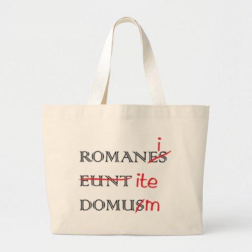 Los romanos van a casa bolsa de mano