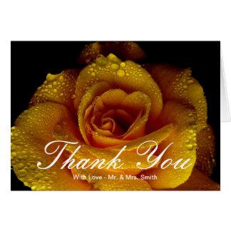 Los rosas amarillos le agradecen tarjeta de felicitación