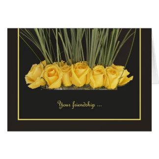 ¿Los rosas amarillos le quieren sean mi dama de ho Tarjeta