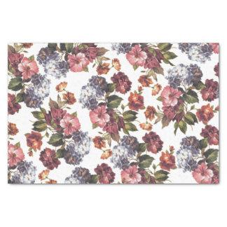 Los rosas anaranjados azules del rosa elegante del papel de seda pequeño