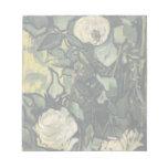 Los rosas blancos de Vincent van Gogh subió arte d Blocs De Notas