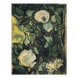 Los rosas blancos de Vincent van Gogh subió arte d Foto