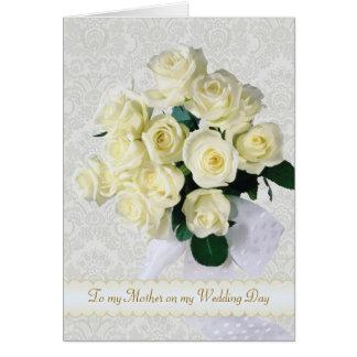 Los rosas blancos - gracias mimar por mi boda tarjeta de felicitación